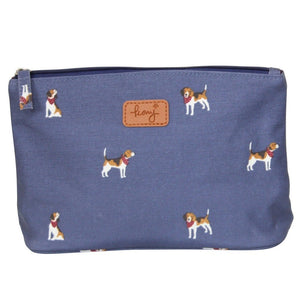beagle print cosmetic bag
