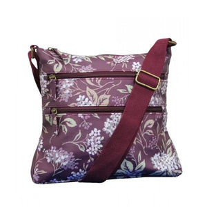 hydrangea cross body bag