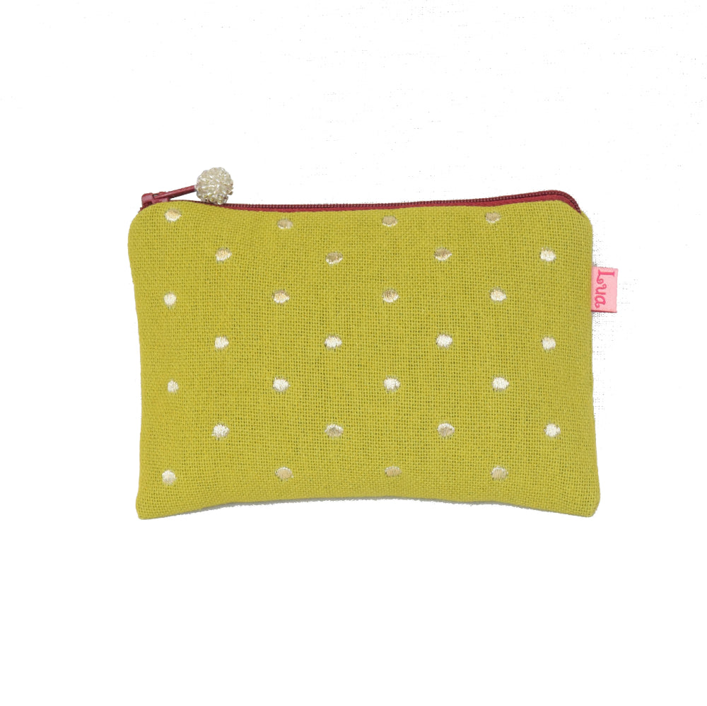 citrus spot embroidered coin purse
