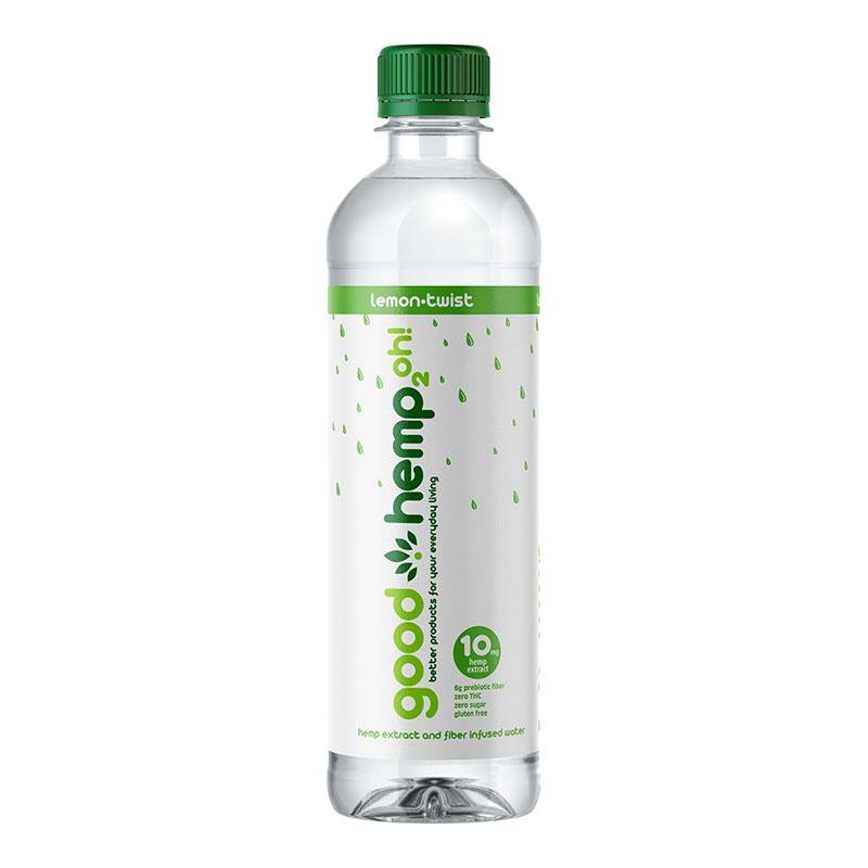Good Hemp 2oh! - Lemon Twist | Hemp extract infused water (12 pk)