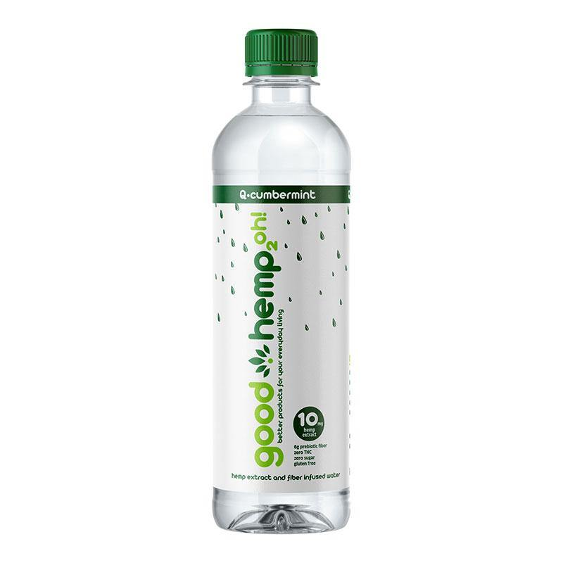 Good Hemp 2oh! - Q-cumber Mint | Hemp extract infused water (12 pk)