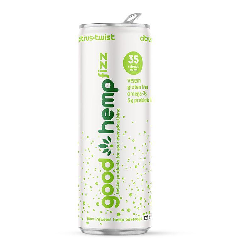Good Hemp Fizz - Citrus-Twist | Hemp infused carbonated water (12 pk)