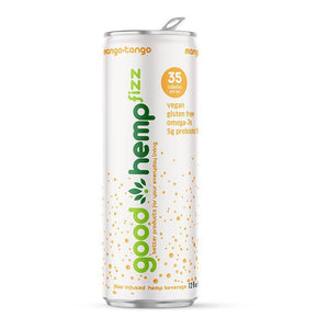Good Hemp Fizz - Mango-Tango | Hemp infused carbonated water (12 pk)
