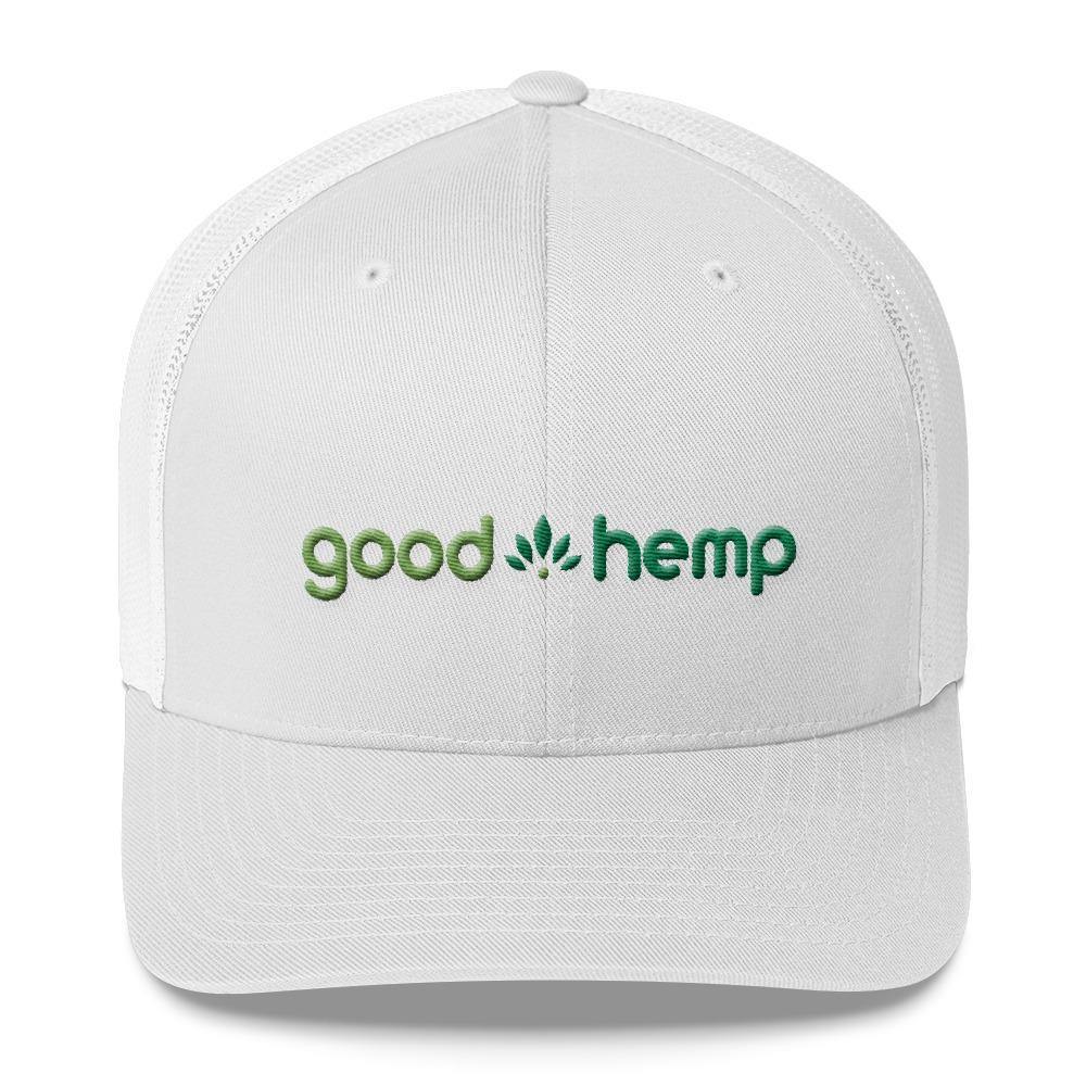 Trucker Cap, White  | Good Hemp Brand Apparel
