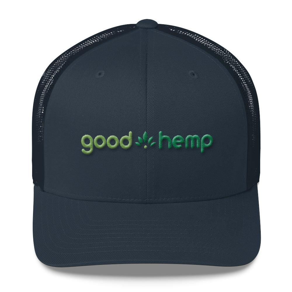 Trucker Hat, Navy  | Good Hemp Brand Apparel