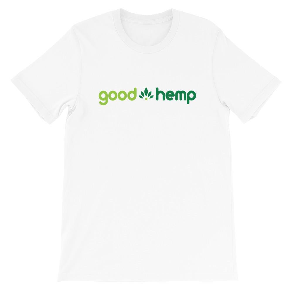 Short-Sleeve Unisex T-Shirt, White  | Good Hemp Brand Apparel