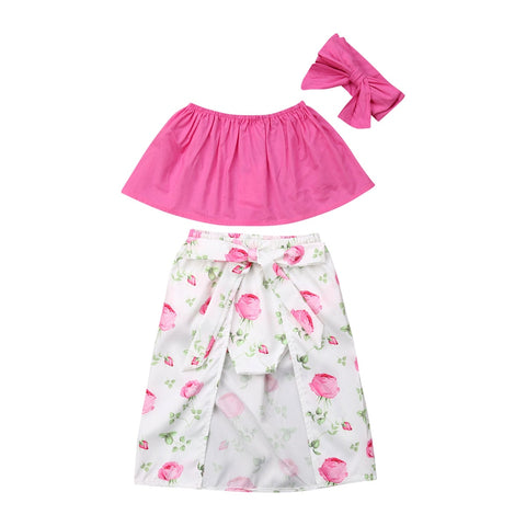 Stylish Summer Floral Outfit for Baby Girls - tiny-tots-eco