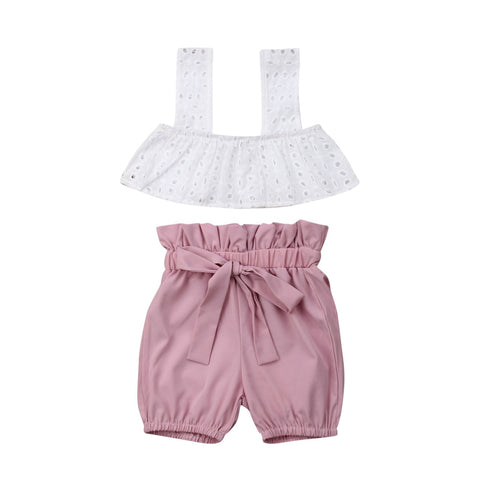 Summer Baby Girl Outfit Set - tiny-tots-eco