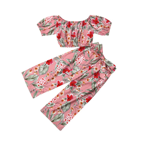 Floral Summer Outfit for Girls - tiny-tots-eco