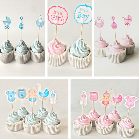 Baby Party/Birthday/ Baby Shower Cupcake Toppers - tiny-tots-eco