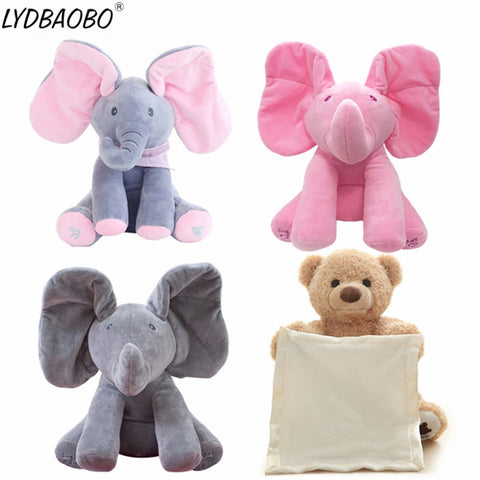 Cute Interactive Peek a Boo Elephant - tiny-tots-eco