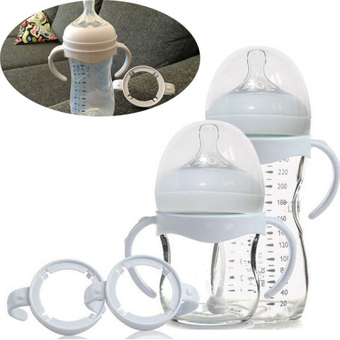 Avent Wide Mouth PP Glass Milk Bottle With Grip Handle - tiny-tots-eco