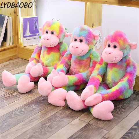 Cute Rainbow Monkey Stuffed Soft Toy - tiny-tots-eco