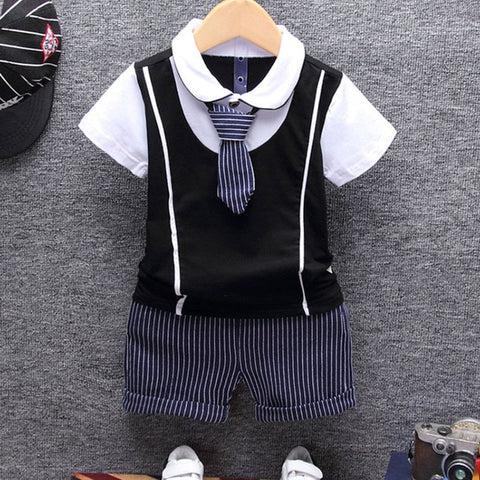 Gentleman Tie Outfit For Boys - tiny-tots-eco