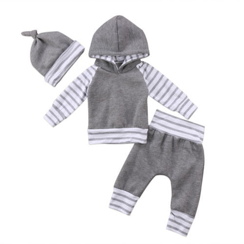 3 Piece Winter Striped Outfit Set For Boys - tiny-tots-eco