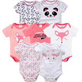 7 Pieces Summer Baby Rompers - tiny-tots-eco