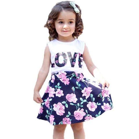 Cute Sleeveless Floral Summer Dress For Girls - tiny-tots-eco