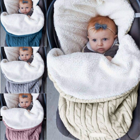 Thick Warm Swaddle Blanket - tiny-tots-eco