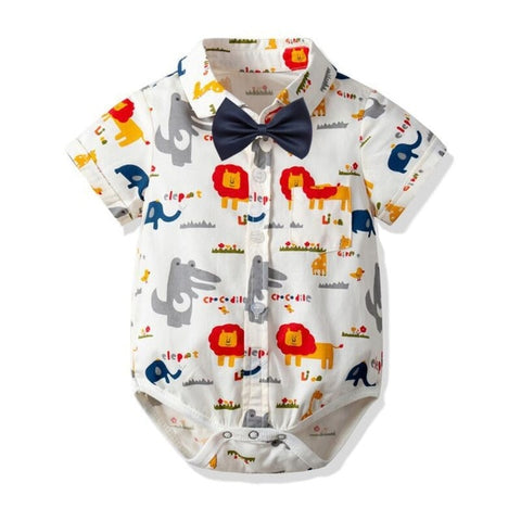 Gentleman Tie Bow Onesies For Baby Boys - tiny-tots-eco