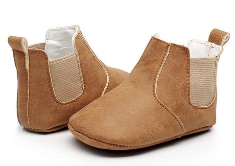 Fashionable Leather Baby Boots - tiny-tots-eco