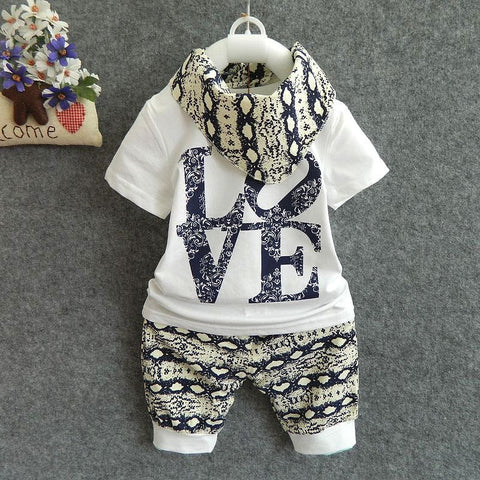 2Pcs Love Cotton Clothes Set For Boys - tiny-tots-eco