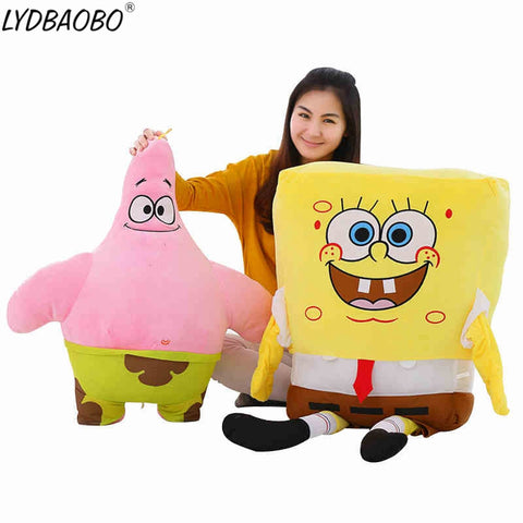 40-100cm Giant Spongebob & Patrick Star Plush Toys - tiny-tots-eco