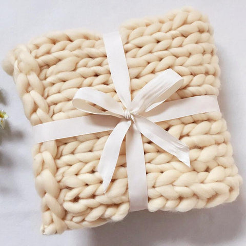 Chunky Knitted Baby Blanket - tiny-tots-eco