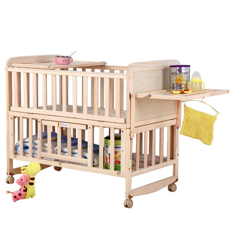 Ultimate Multi-function 8 in 1 Wood Baby Crib - tiny-tots-eco