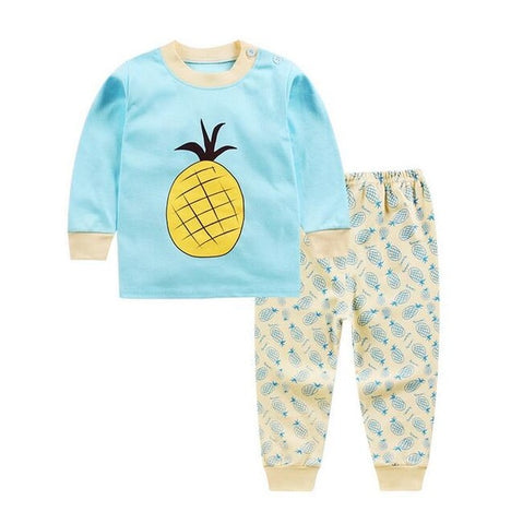 Cartoon Cotton Pajamas For Girls & Boys - tiny-tots-eco