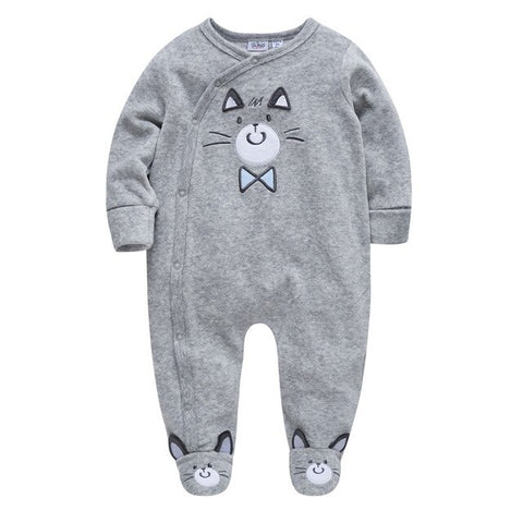 Long Sleeve Cotton Cartoon Rompers for Babies - tiny-tots-eco