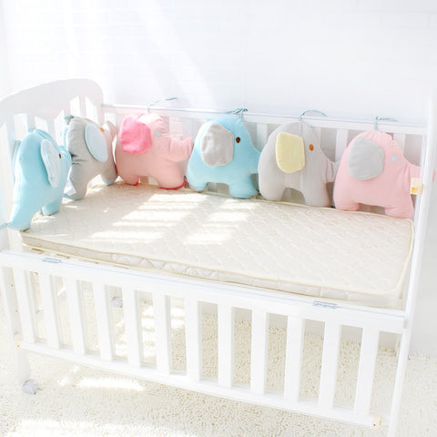 Baby Crib Elephant Themed Soft Protector - tiny-tots-eco