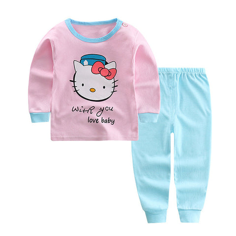 Soft Cute Pajamas For Girls - tiny-tots-eco