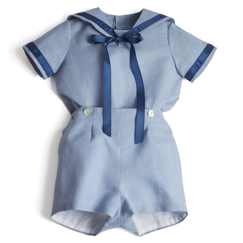 Navy Blue Formal Sailor Outfit For Boys - tiny-tots-eco