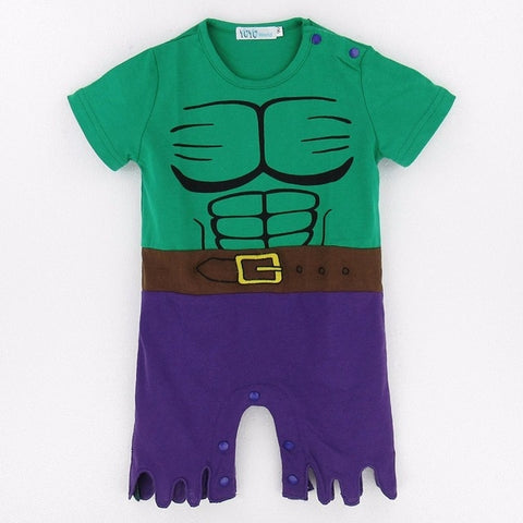 Incredible Hulk Baby Playsuit - tiny-tots-eco