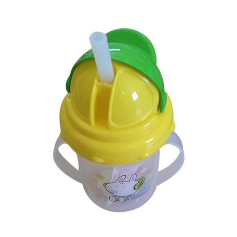 Cute Bottle Straw Cup With Handles - tiny-tots-eco
