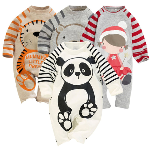Soft Cotton Animal Rompers For Babies - tiny-tots-eco