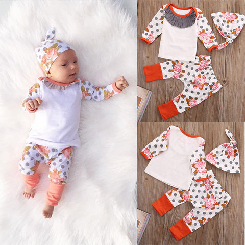 Adorable 3 Pieces Cotton Set - tiny-tots-eco