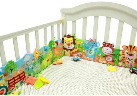 Animal Themed Baby Crib Bumper - tiny-tots-eco