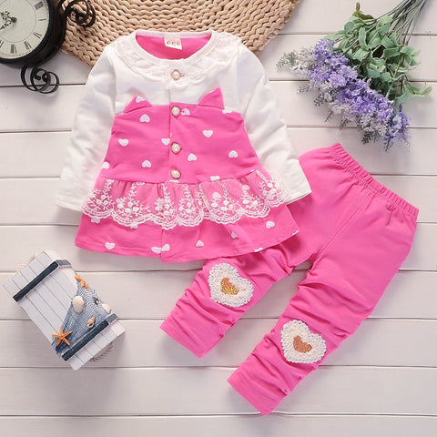 Spring Long Sleeve Clothing Set For Girls - tiny-tots-eco
