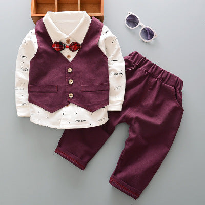 3pcs Gentleman Formal Outfit - tiny-tots-eco