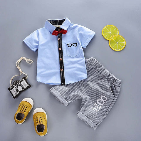Gentleman T-shirt+ Shorts Summer Wear - tiny-tots-eco