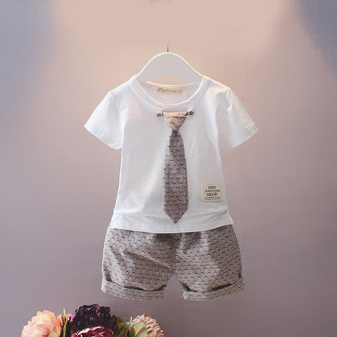 Baby Boy Summer Gentleman Clothes Set - tiny-tots-eco