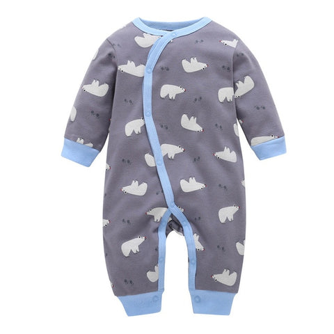 One Piece Cotton Rompers For Babies - tiny-tots-eco