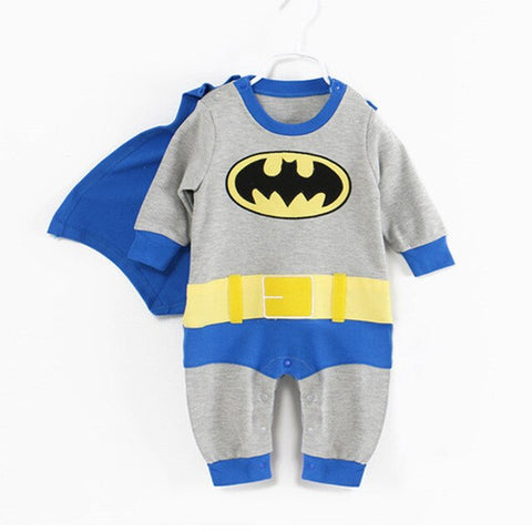 Superhero Cotton Romper with Capes - tiny-tots-eco