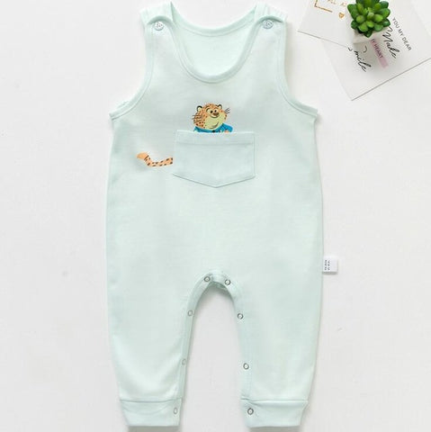 Cute Cotton Sleeveless Romper For Babies - tiny-tots-eco