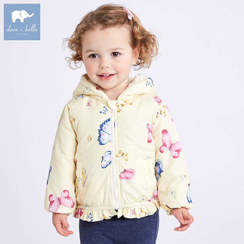 Floral Hooded Baby Girl Coat - tiny-tots-eco