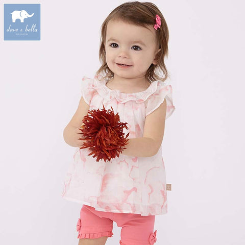 Summer Pink Sleeveless Top + Bow Designed Shorts Outfit - tiny-tots-eco
