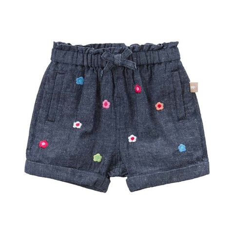Floral Denim Shorts for Baby Girls - tiny-tots-eco