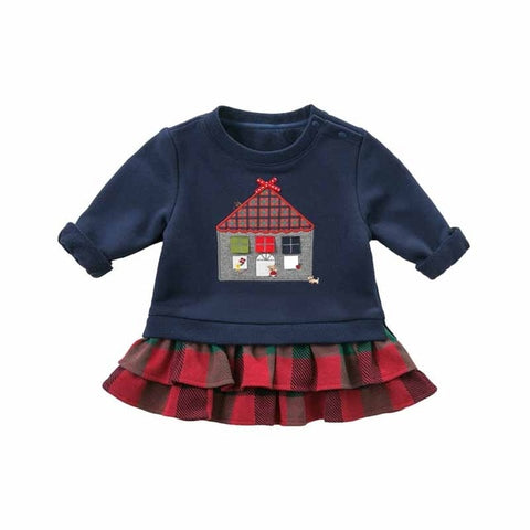 Autumn Ruffles Long Sleeve T-Shirt for Baby Girls - tiny-tots-eco