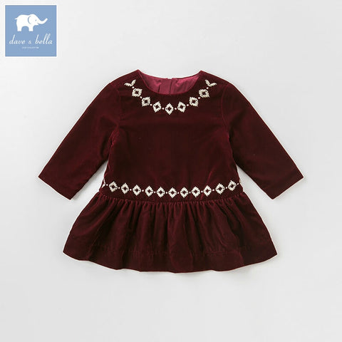 Autumn Stylish Long Sleeve Dress - tiny-tots-eco
